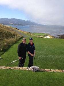 Father & Son thrilled to be at Pebble Beach!